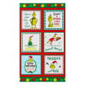"Kaufman Grinch 24"" Panel Holiday"