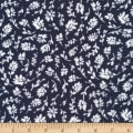 Cloud 9 Organics Garden Ramble Indira Double Gauze Navy