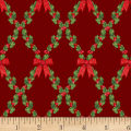 Let It Sparkle Bows And Holly Radiant Metallic Crimson