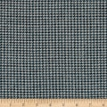 Small Houndstooth Wool Suiting Blue/White