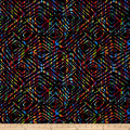 "Prismatic 108"" Wide Back Diamondesque Black/Multi"