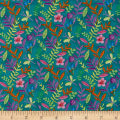 Bloom Bouquet Allover Leaf Teal