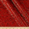 Elegant Christmas Scroll Metallic Red