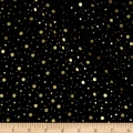 Elegant Christmas Dot Metallic Black