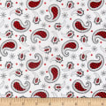 Western Greetings Paisley White