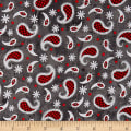 Western Greetings Paisley Dark Gray