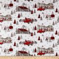 Western Greetings Christmas Scenic White