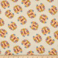 Safari Shuffle  Lion Heads Flannel Light Yellow