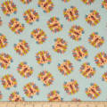 Safari Shuffle Lion Heads Flannel Light Blue