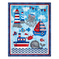 "Anchor'S Away 36"" Panel Blue"