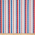 Anchor'S Away Textured Stripe Blue/Red