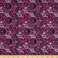 Stof Boho Graphics Star Pink/Grey