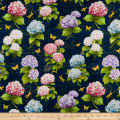 Wilmington Hydrangea Dreams Large Allover Navy