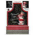 "Wilmington Morning Coffee Apron 30"" Panel Multi"