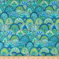 Wilmington Paradise Falls Scallop Blue/Green