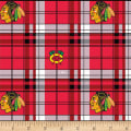 NHL Fleece Chicago Blackhawks Plaid  Fleece