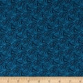 Indigo Cottage Leaf Geometric Medium Blue