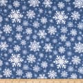 Sweater Weather Snowflakes Flannel Blue