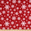 Sweater Weather Snowflakes Flannel Red