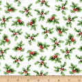 Sheltering Snowman Holly Cream/Green