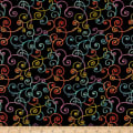 Modern Movement Whimsy Scroll Metallic Black/Multi