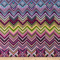 Modern Movement Chevron Geo Metallic Purple/Multi