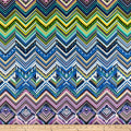 Modern Movement Chevron Geo Metallic Royal/Multi