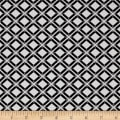 Telio Bengaline Stretch Jacquard Argyle Black/White
