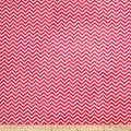 Shannon Minky Mini Chevron Cuddle Watermelon/Snow