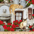 Timeless Treasures Front Porch Cats & Geraniums Porch