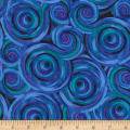 "Timeless Treasures 108"" Wide Back Geo Circles Multi"
