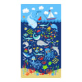 "Timeless Treasures Snorkel Adventure 24"" Sealife Panel Navy"