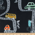 Michael Miller Minky On the Road On the Road Navy