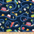 Cubby Bear Flannel Prints Road Trip Navy