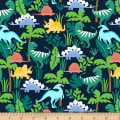 Cubby Bear Flannel Prints Dino Friends Navy