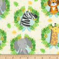 Timeless Treasures Jungle Boogie Jungle Animal Heads Cream