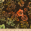 Timeless Treasures Tonga Batik Nutmeg Foliage Fudge