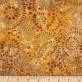 Timeless Treasures Tonga Batik Nutmeg Bubbles Terra