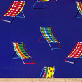 Alexander Henry Beach Chair Canvas Blue