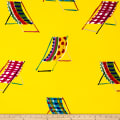Alexander Henry Beach Chair Canvas Yellow