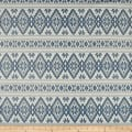 Laura & Kiran Stockholm Print Basketweave Blue