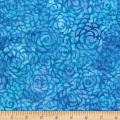 "Anthology Batiks Abstract Rose 108"" Wide Back Cobalt"