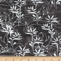 Anthology Batiks Rayon Challis Stalk Charcoal