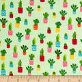 Andover/Makower Fruity Friends Cactus Green