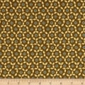 Andover Maling Road Button Flowers Brown