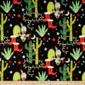 Anthology Batiks Cactus Christmas Black