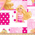QT Fabrics Fleece Barbie Patch Multi