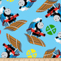 QT Fabrics Fleece Thomas & Signs Blue