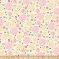 Ink & Arrow Aziza Dotted Circles Cream/Pink