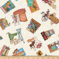 QT Fabrics Dan Morris Backcountry Travel Decals Light Cream